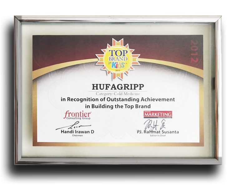 HUPGRIPP 2012 TOP BRAND COLD